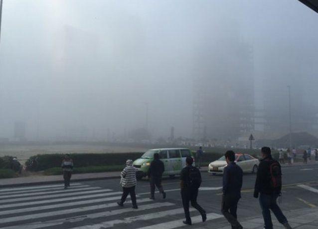 بالصور : أمطار غزيرة وبرد وضباب كثيف على مناطق متفرقة في الإمارات