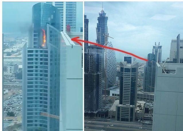 دبي: إخماد حريق شب  فى برج  بـ 32 طابقا