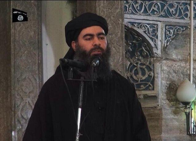 أول ظهور لـ  أبو بكر البغدادي زعيم جماعة داعش