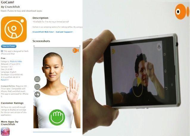 تطبيق جديد لالتقاط الصور الذاتية دون لمس الشاشة