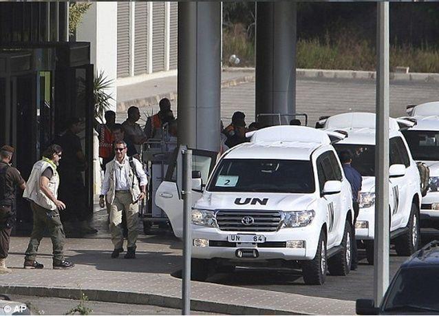 خبراء الاسلحة الدوليون يغادرون سوريا وأمريكا تستعد لتوجيه ضربة