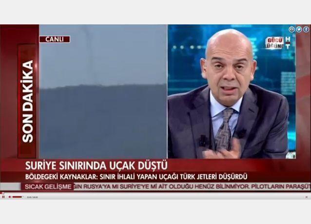 الجزيرة: إسقاط طائرة مقاتلة روسية على الحدود السورية التركية في ريف  اللاذقية