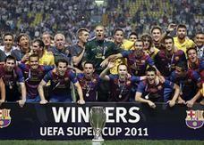 ميسي يقود برشلونة لإحراز كأس السوبر الأوروبية