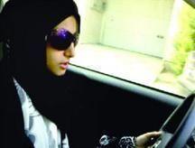 السعودية أمجاد محمد تجوب شوارع الرياض بسيارتها