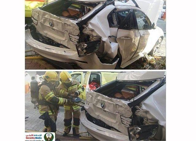 أبو ظبي: مقتل امرأة بعد سقوط سيارتها من الطابق السادس خلال رجوعها للخلف