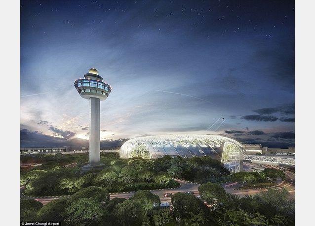 شاهد تصاميم غابة وشلالات بمليار دولار في مطار سنغافورة