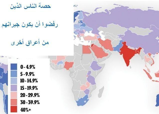 بالصور: الدول الاكثر عنصرية وأكثر الدول تنوعا عرقيا
