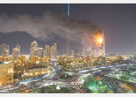 شرطة دبي : ماس كهربائي كان السبب في حريق فندق العنوان ليلة رأس السنة