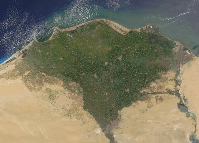 بالصور: لقطات لوادي النيل في مصر من وكالة ناسا للفضاء