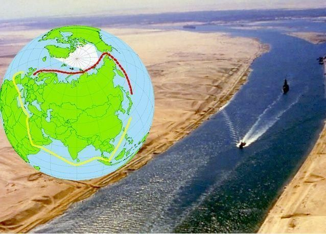 أول رحلة شحن صينية عبر خط بحري جديد يتلافى المرور عبر قناة السويس