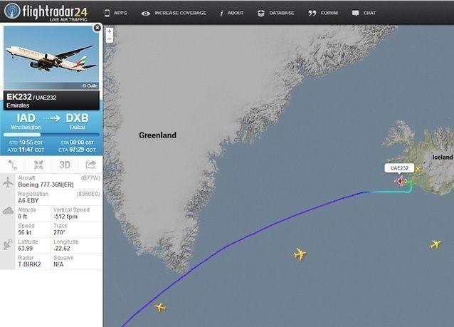 تحويل رحلة لطيران الإمارات ومتابعة رحلتها إلى دبي