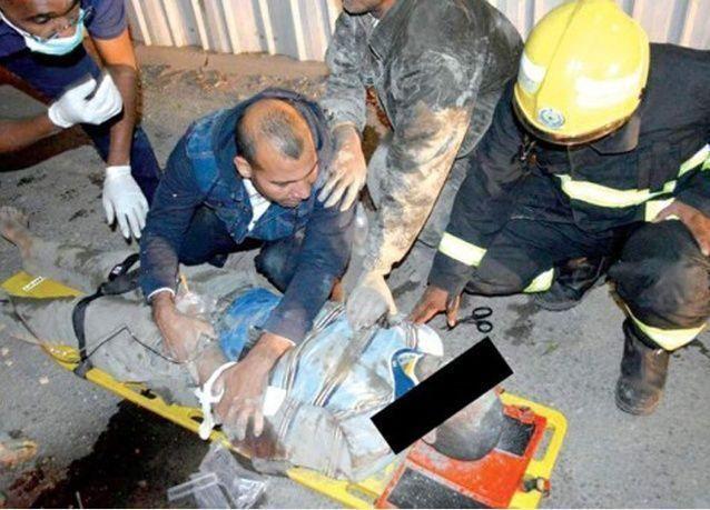 مصرع مقيم عربي في السعودية وإصابة آخرون في انهيار السقف الثامن لبناء