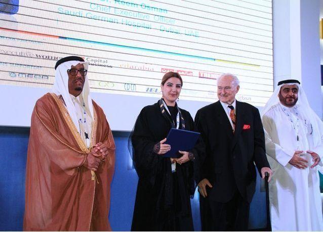 """مؤتمر """"إبداعات عربية"""" يكرم الدكتورة ريم عثمان الرئيس التنفيذي للمستشفى السعودي الألماني في دبي"""