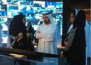 """دبي: تدشين صالة الأخبار"""" تحرير المستقبل """" الذكية"""