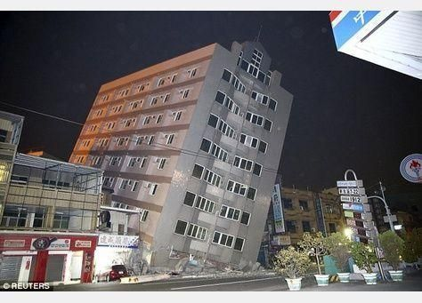 زلزال شدته 6.4 درجة يضرب جنوب تايوان