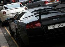 خليجيون أثرياء في شوارع لندن الفاخرة بسياراتهم المشحونة من بلدانهم