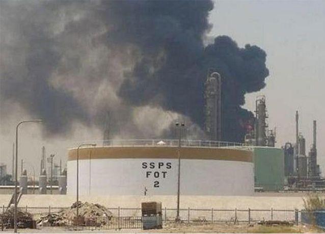 شركة البترول الوطنية الكويتية تغلق مصفاة الشعيبة بعد حريق