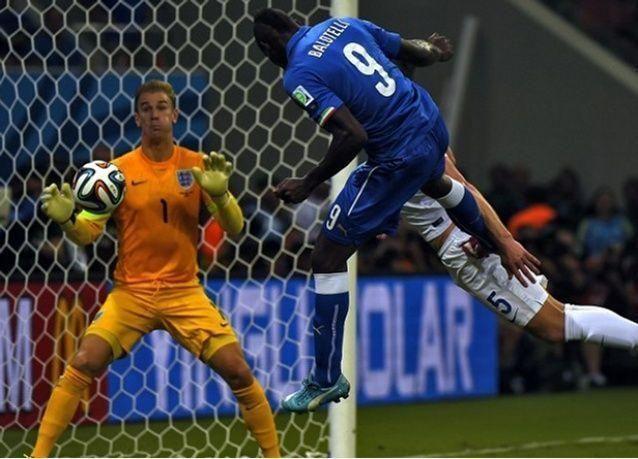 ضربة رأس بالوتيلي تمنح ايطاليا الفوز على انجلترا 2-1