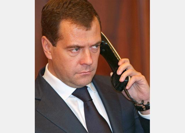 ميدفيديف زعيم حزب روسيا الموحدة الحاكم