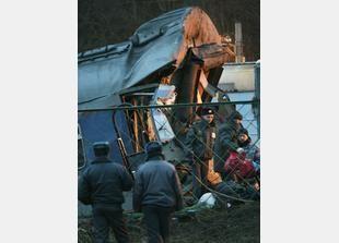 صور تحطم قطار في روسيا