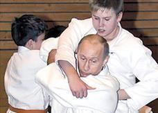 فلاديمير بوتين يطلب الانضمام لمنتخب روسيا للجودو