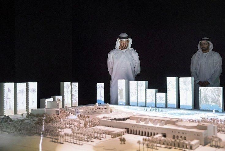 محمد بن زايد يشهد إطلاق مشروع تطوير قصر الحصن