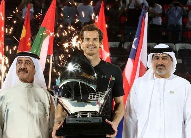 بالصور : موراي يتوج بلقب بطولة دبي للتنس .. للمرة الأولى في تاريخه