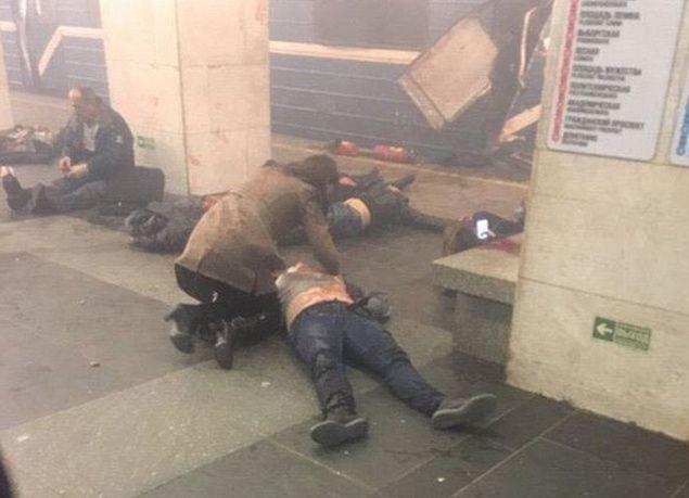 بالصور : عشرات القتلى والجرحى بانفجار محطة مترو في سان بطرسبرغ