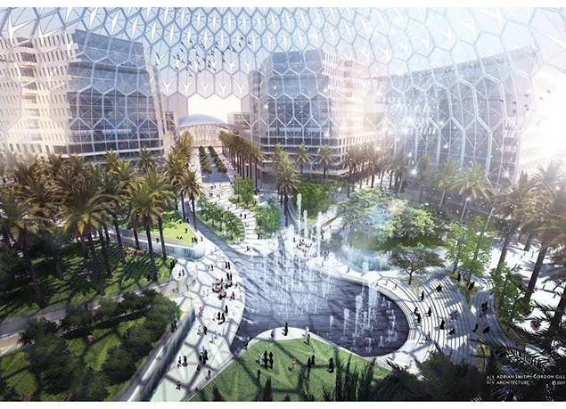 """بالصور : الكشف عن ساحة الوصل """"قلب معرض إكسبو 2020"""" دبي"""