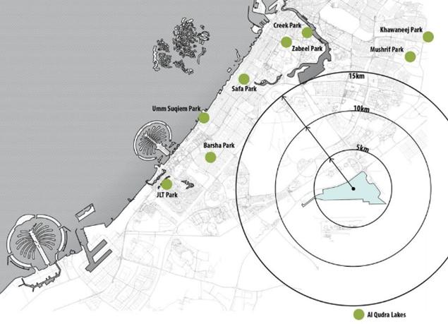 بالصور : إطلاق مشروع أكبر حديقة عامة في دبي