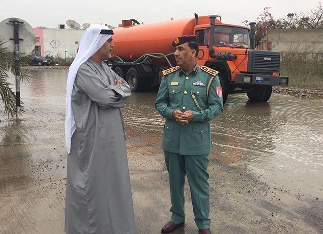بالصور : أمطار الخير تغمر الإمارات .. والأرصاد تحذر