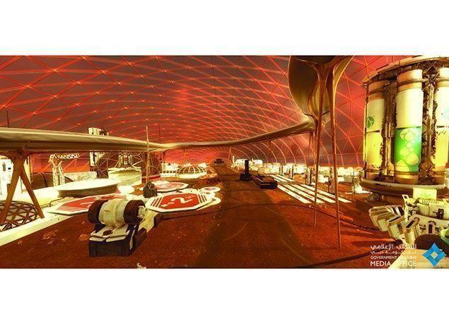 """بالصور : الإمارات تضع تصوراً علمياً لبناء أول """"مدينة متكاملة"""" على المريخ"""