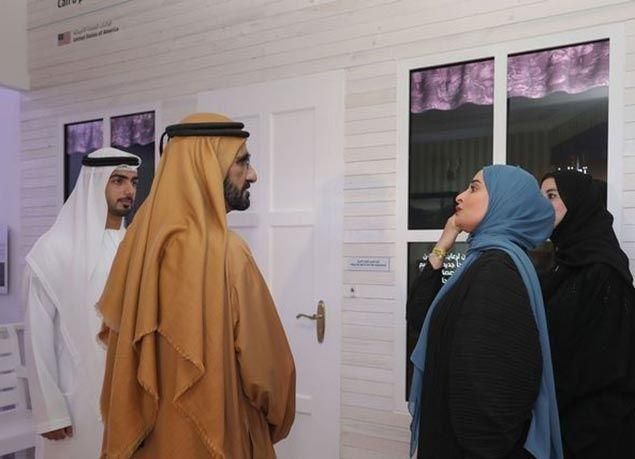 "بالصور : محمد بن راشد يزور معرض ""الحكومات الخلاقة"""