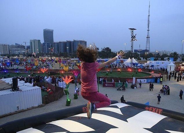 """بالصور : انطلاق """"مهرجان أم الإمارات"""" على كورنيش أبوظبي بأكثر من 100 فعالية"""