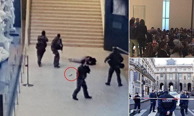 جندي فرنسي يطلق النار على مصري هاجمه في متحف اللوفر بباريس
