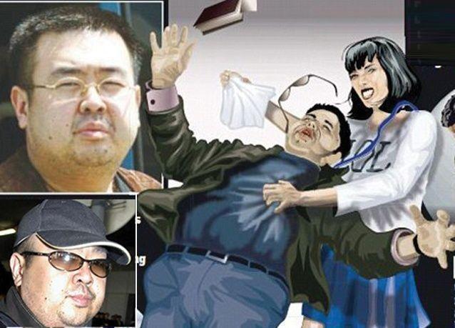 بزعم إنها لبرنامج الكاميرا الخفية فتاة تقوم باغتيال الأخ الأكبر لزعيم كوريا الشمالية