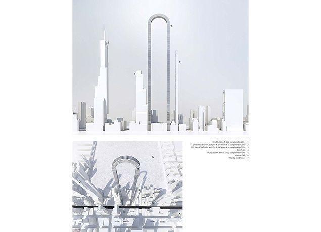 """بالصور : """"بيغ بيند"""".. أطول مبنى بالعالم على شكل حرف U مقلوب في نيويورك"""
