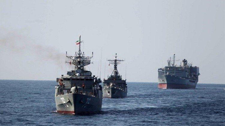 سفن عسكرية إيرانية تتوجه إلى سلطنة عمان لإجراء مناورات عسكرية بحرية