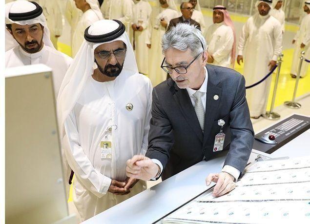 """بالصور : محمد بن راشد يفتتح شركة """"عملات للطباعة الأمنية"""" في أبوظبي"""