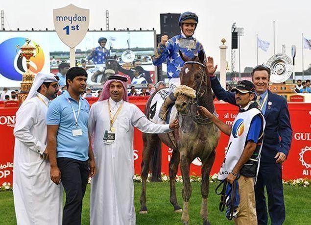 """بالصور : """"أروجيت"""" يفوز بكأس دبي العالمي لسباق الخيول 2017"""