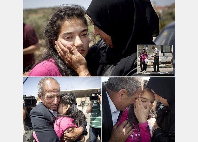 الإفراج عن الطفلة الفلسطينية ديما الواوي 12 سنة