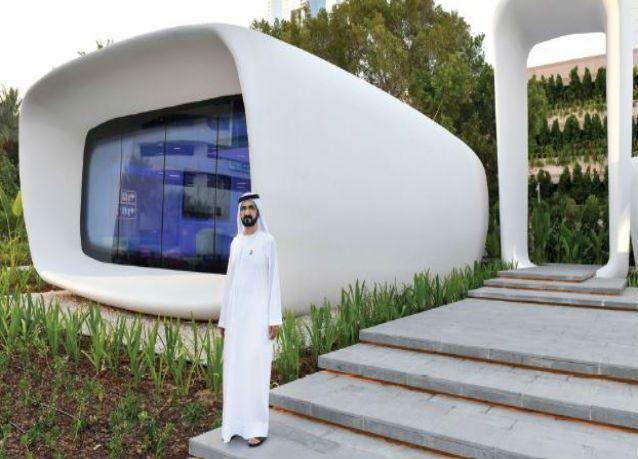 دبي : افتتاح أول مكتب مطبوع بتكنولوجيا ثلاثية الأبعاد في العالم