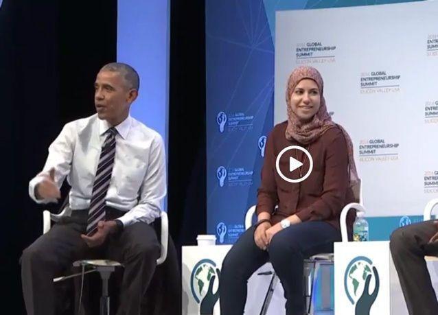 أوباما يحاور رائد الأعمال المصرية مي مدحت ميديا