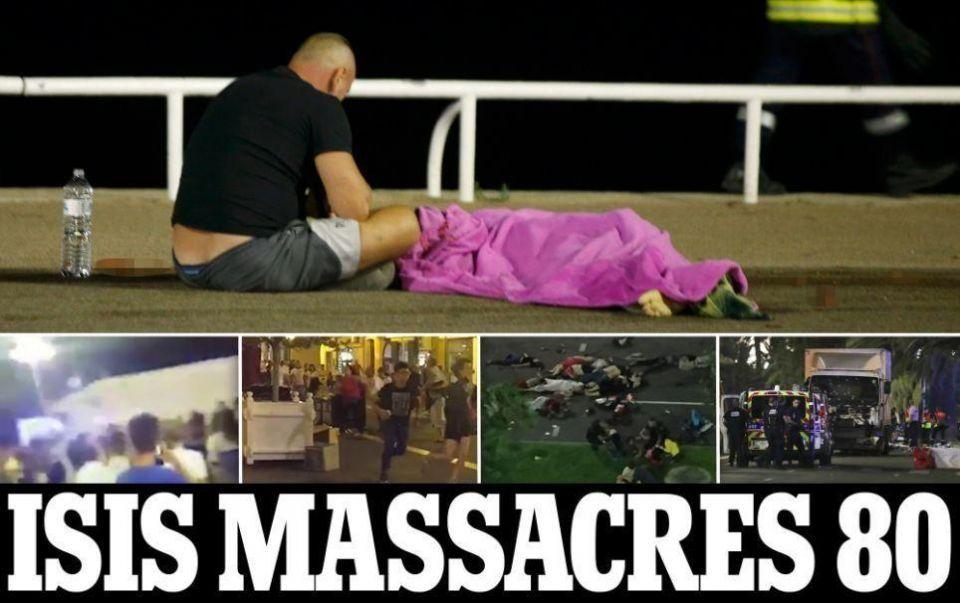 مهاجم بشاحنة يقتل زهاء 80 شخصا في عملية دهس بمدينة نيس الفرنسية