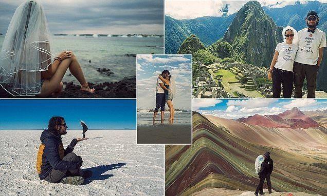 بالصور: شهر عسل طويل من 200 يوما حول العالم