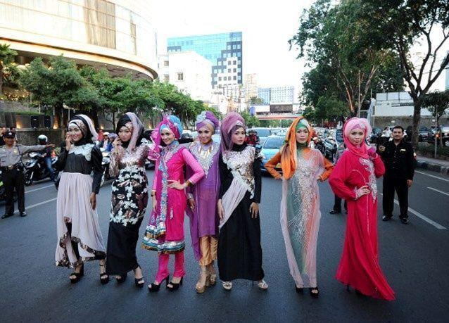 عرض للأزياء الإسلامية في اليابان