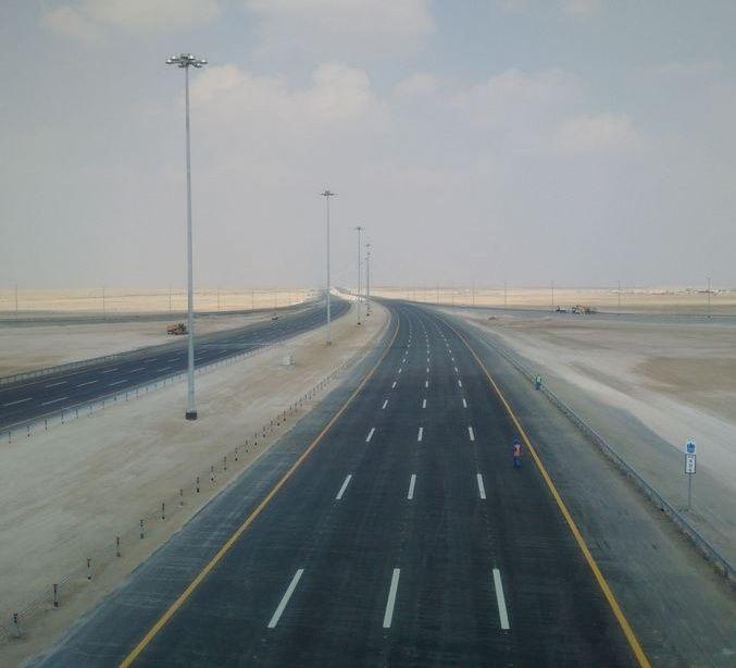 98 % نسبة إنجاز طريق أبوظبي-دبي الجديد والافتتاح بداية 2017