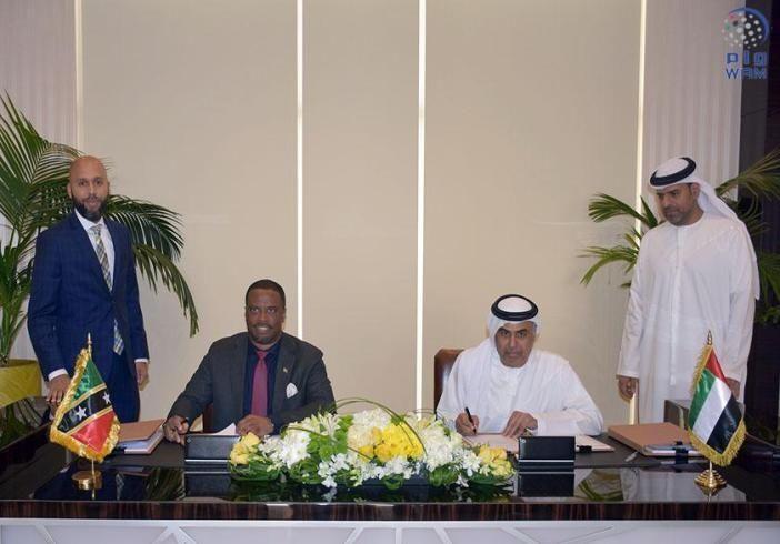 الإمارات وسانت كيتس ونيفس توقعان اتفاقيتين لتجنب الإزدواج الضريبي وتشجيع الاستثمار
