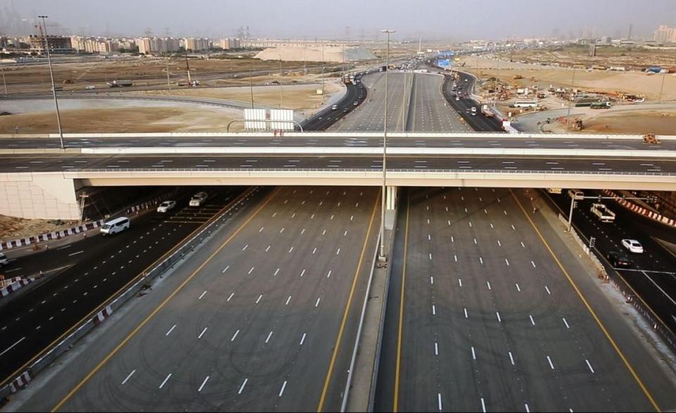 """""""طرق دبي"""" تفتتح بشكل كامل تقاطع الحوض بتكلفة 228 مليون درهم"""