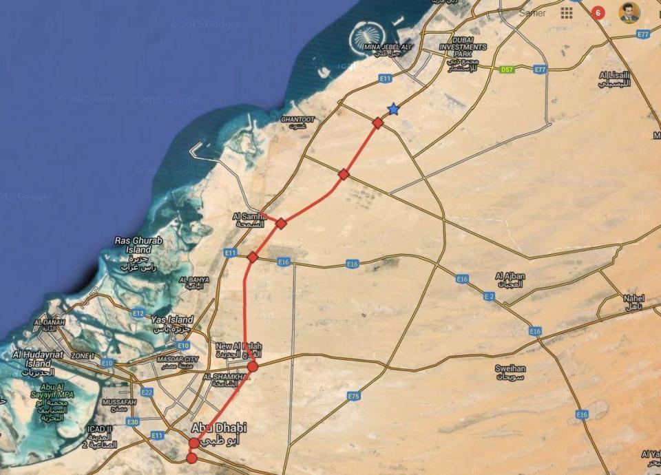 اليوم، افتتاح طريق أبوظبي - دبي الجديد